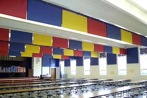 acoustical treatment for school cafeteria