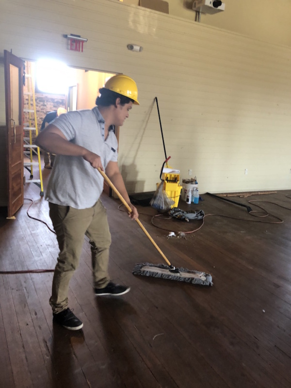 Cleaning Floor Armature Works
