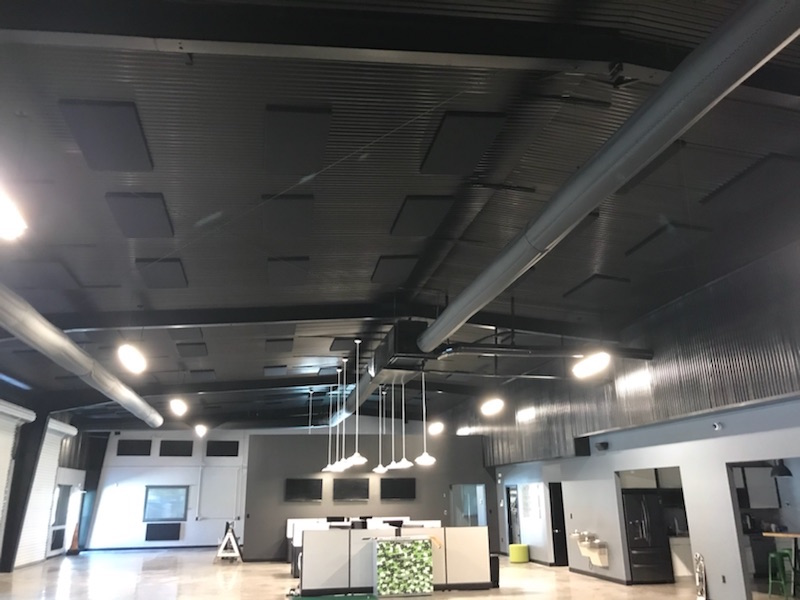 Absorption Panels on Ceiling GrabAds