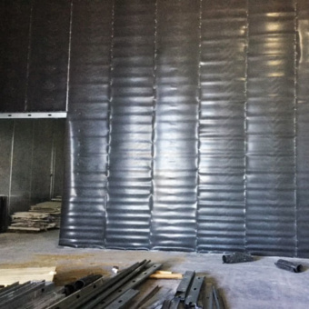 Large Sheets of Wall Blokker on Metal Studs