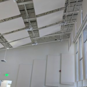 Theater acoustics panels
