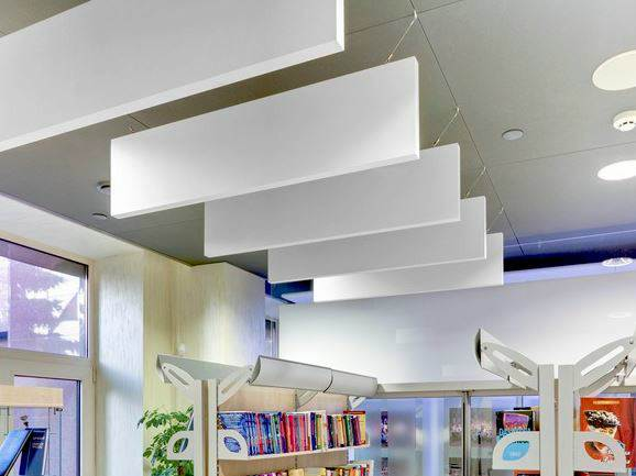 Fabric Wrapped Acoustic Ceiling Baffles Commercial