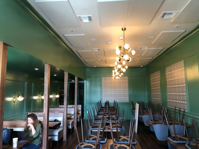restaurant custom color acoustic panel